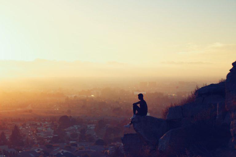 meditative person