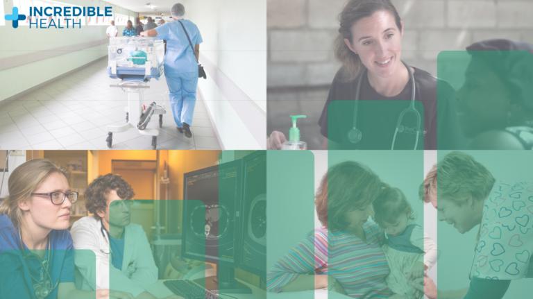 four nurses in different roles