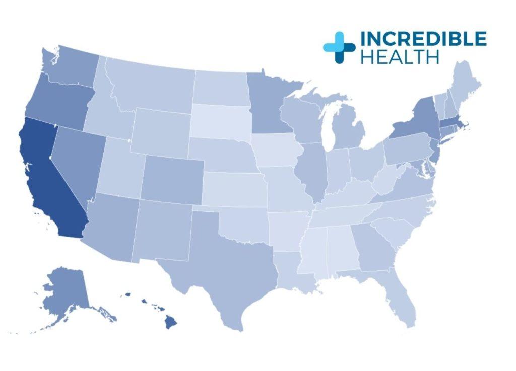average nurse salary by state